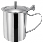 Winco - Creamer Server with Cover and Knob, 10 oz Stainless Steel