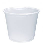 Dart - Container, 5.5 oz Clear Plastic Conex Complement Portion Container, 3x2x2