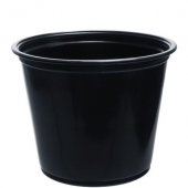 Dart - Solo Souffle Portion Cup, 5.5 oz Black Plastic