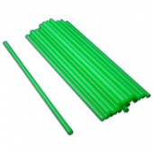 "Unwrapped Straw, 10.25"" Giant Lime Green"