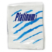 Platinum I Dinner Napkins, 1-Ply White, 15x16.25