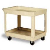 Utility Cart, Beige with 2 Shelves