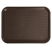 Winco - Fast Food Tray, 12x16 Brown Plastic