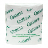 Allied West - Optima Dinner Napkin, 2-Ply 1/8 Fold, 14.4x16.4 White