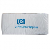 Allied West - US Series Dinner Napkin, 2-Ply 1/8 fold, 17x14.4 White