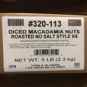 Diced Macadamia Nuts, 5 Lb