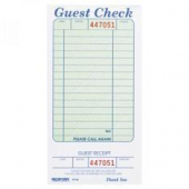 Guestcheck Board, Single Paper Green with Perforated Order Receipt Stub, 14 Lines, 4x6.5