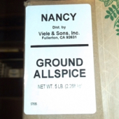 Nancy Brand - Allspice, Ground, 5 Lb