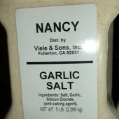 Nancy Brand - Garlic Salt, 5 Lb