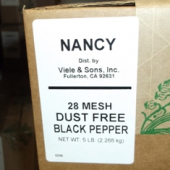 Nancy Brand - Black Pepper, Ground, 28 Mesh Dust Free, 5 Lb