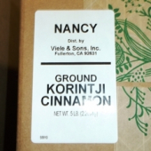 Nancy Brand - Cinnamon, Ground Korintji, 5 Lb
