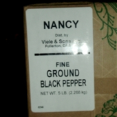 Nancy Brand - Black Pepper, Fine, 5 Lb