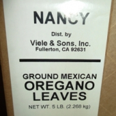 Nancy Brand - Oregano Leaves, Ground Mexican, 5 Lb