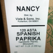 Nancy Brand - Paprika, Ground Spanish, 5 LB