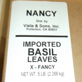Nancy Brand - Basil Leaves, Whole, 5 Lb