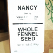 Nancy Brand - Fennel Seed, Whole, 5 Lb
