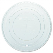 Dart - Lid, Clear PET Plastic Cold Drink Lid with Straw Slot, Fits Y9, Y10 and P10