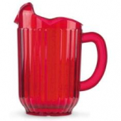 Vollrath - Traex Tuffex Beverage Pitcher with 3 Spouts, 60 oz Ruby Red