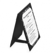 Table Tent, A-Frame Imitation Leather, 4.25x6.5