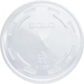 Dart - Lid, Clear PET Plastic Cold Drink Lid with Straw Slot, Fits TP9 and TP10 cups