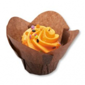 Hoffmaster - Lotus Baking Cups, Small Chocolate Brown, 1.25x2.25