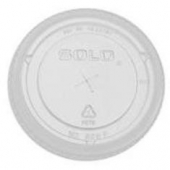 Dart - Lid, Clear PET Plastic Cold Drink Lid with Straw Slot, Fits 16-24 oz cups