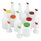 Winco - Multi-Pour Bottle, 1 Quart Liquor/Juice Pour, Assorted Colors