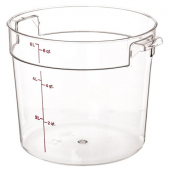 Cambro - Camwear Rounds Food Storage Container, 6 Quart Round Clear PC Plastic