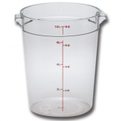 Cambro - Camwear Rounds Food Storage Container, 8 Quart Round Clear PC Plastic