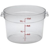 Cambro - Camwear Rounds Food Storage Container, 12 Quart Round Clear PC Plastic