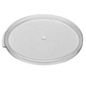 Cambro - Camwear Rounds Food Storage Container Lid, Clear PC Plastic, Fits 6/8 qt Containers