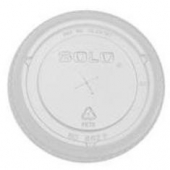 Dart - Lid, Clear PET Plastic Cold Drink Lid with Straw Slot, Fits 9-22 oz cups