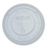 Solo - Lid, Clear PET Paper Cold Drink Lid with Straw Slot, Fits 12-24 oz cups