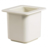 "Cambro - ColdFest Food Pan, 1/6 Size 6"" Deep White Plastic"