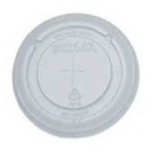 Dart - Lid, Clear PET Plastic Cold Drink Lid with Straw Slot, Fits Y14 and Y12S