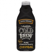 Java House - Authentic Cold Brew Colombian Black Coffee 2:1 Concentrate, 6/32 oz