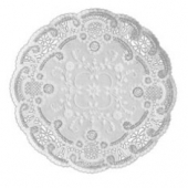"Doily, 6"" White French Lace"