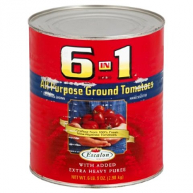 6 in 1 All Purpose Ground, Peeled Tomatoes, 6/10
