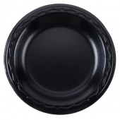 "Genpak - Plate, 6"" Laminated Black"