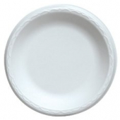 "Dart - Plate, 6"" White Non-Laminated Foam"