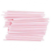 "Unwrapped Stirrer, Sip & Stir Cocktail, 6.5"" Red/White Striped"