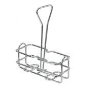 Winco - Cruet Rack for 6 oz Oil Bottles, Chrome Plated