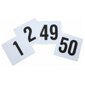 Winco - Table Numbers 1-50, 4x3.75 Plastic