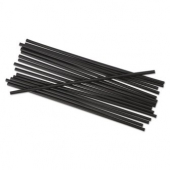 "Unwrapped Straw, Cocktail, 4"" Black"