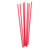 "Unwrapped Straw, Semi Slim Cocktail, 8"" Red"