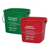 Kleen-Pail - Sanitizing Pail, Red, 8 quart
