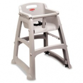 Rubbermaid - High Chair, Platinum Plastic, 24x23.5x30