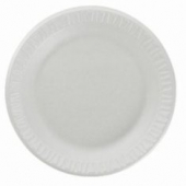"Dart - Plate, 7"" White Non-Laminated Foam"