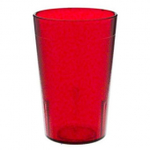 Cambro - Colorware Tumbler, 7.8 oz Ruby Red Pebbled Plastic