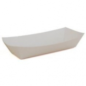 "Hot Dog/Sub Tray, 7"" Heavy White, 7x3.25x1.5"